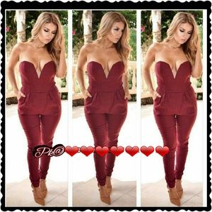 Sweetheart playsuit